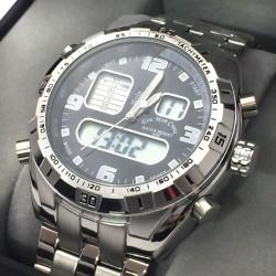 Reloj digital LED en color blanco