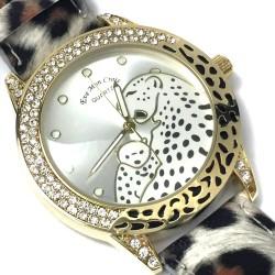 Reloj de Pulsera Oulm Militar con correa de cuero esfera negra