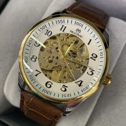 LED Uhr in Schwarz mit Weiss