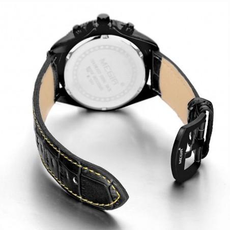 Reloj de Pulsera Oulm con correa de cuero blanco