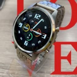 Reloj de Pulsera Kimio plateado con esfera negra