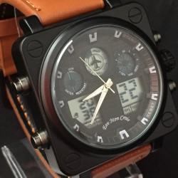 Reloj de Pulsera estilo piloto aviador - esfera negra