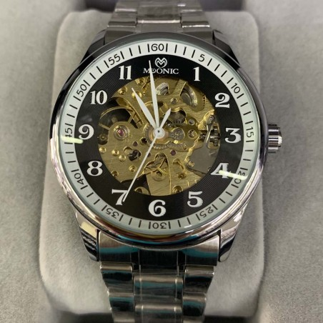 Elegante Reloj clasico con correa de cuero MS-8097
