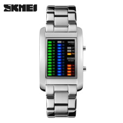 SKMEI Metal Silver/ Multicolor